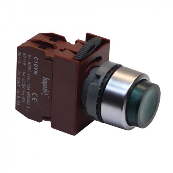 C2PIH G 1A 220V  Кнопка без фиксации выступающая с подсветкой