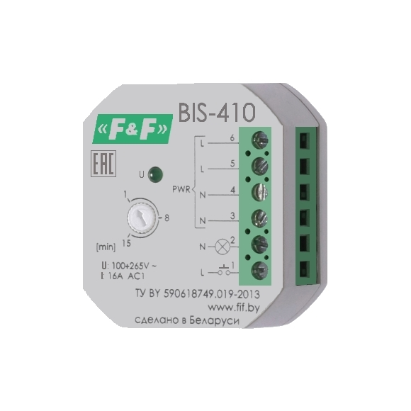 Реле импульсное (лестничный автомат) BIS-410
