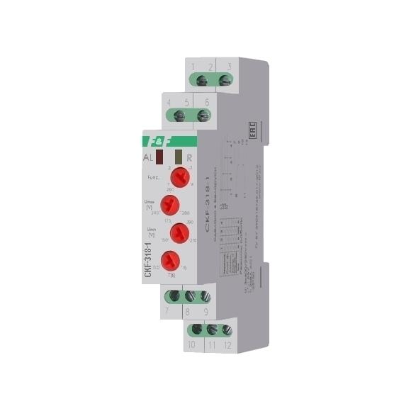Реле контроля напряжения 3-фазное CKF-318-1 на Din-рейку