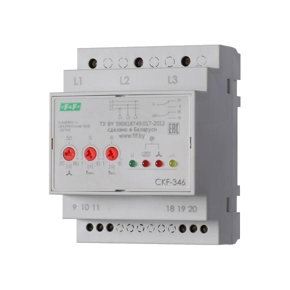 Реле контроля напряжения 3-фазное CKF-346 на Din-рейку