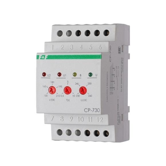 Реле контроля напряжения 3-фазное CP-730 на Din-рейку