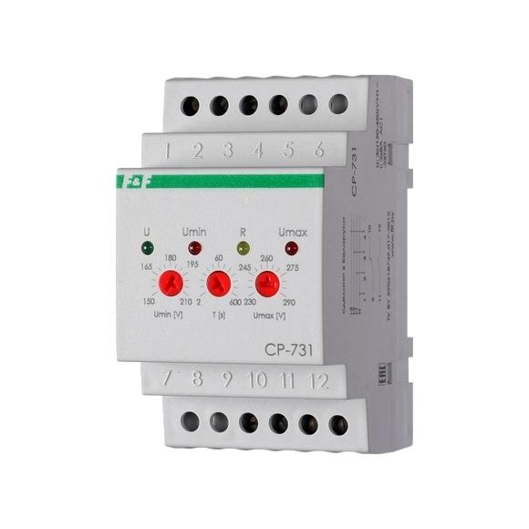 Реле контроля напряжения 3-фазное CP-731 на Din-рейку