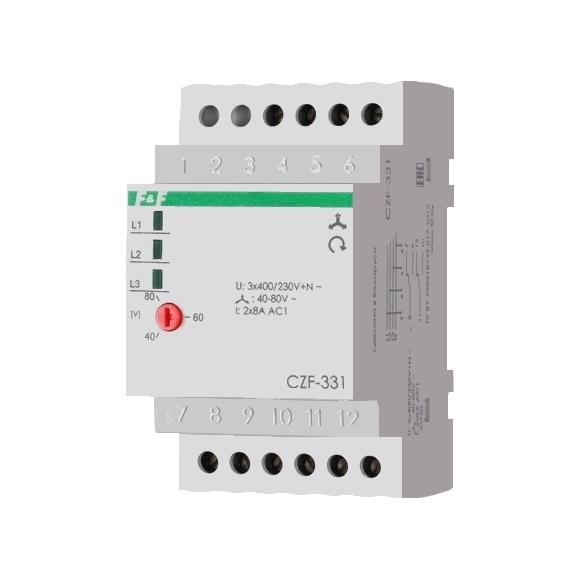 Реле контроля напряжения 3-фазное CZF-331 на Din-рейку