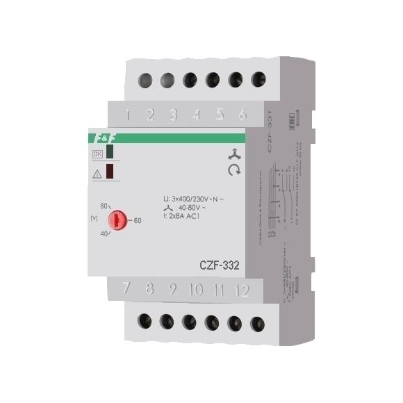 Реле контроля напряжения 3-фазное CZF-332 на Din-рейку