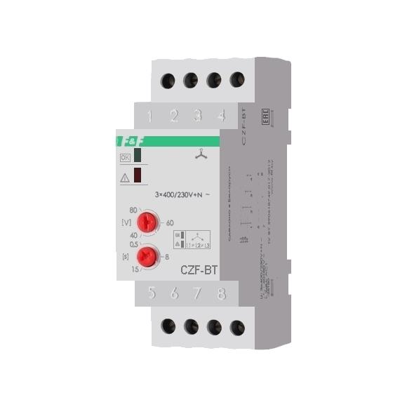 Реле контроля напряжения 3-фазное CZF-BT на Din-рейку