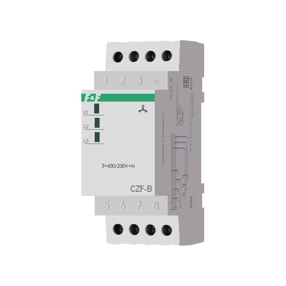Реле контроля напряжения 3-фазное CZF-B на Din-рейку