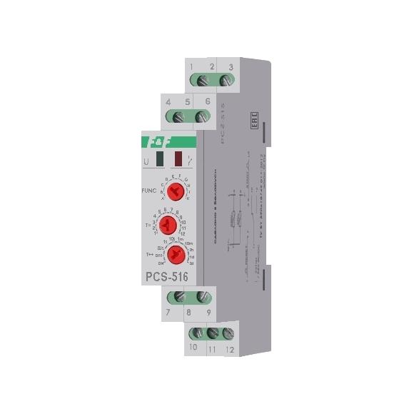 Многофункциональное реле времени PCS-516 на Din-рейку