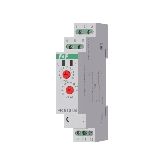 Реле контроля тока PR-610-04 на Din-рейку