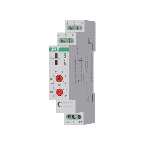 Реле защиты электродвигателей по току PR-617-01 на Din-рейку