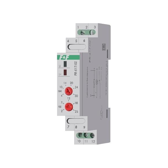 Реле защиты электродвигателей по току PR-617-02 на Din-рейку