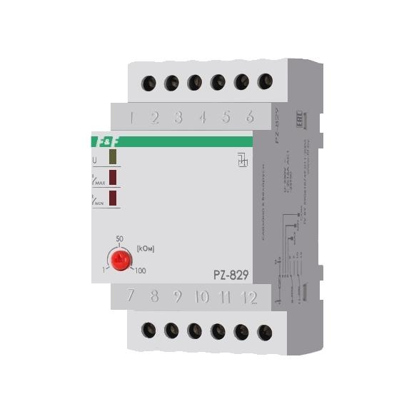Реле контроля уровня жидкости PZ-829 на Din-рейку