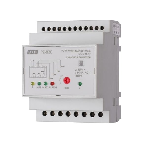 Реле контроля уровня жидкости PZ-830 на Din-рейку