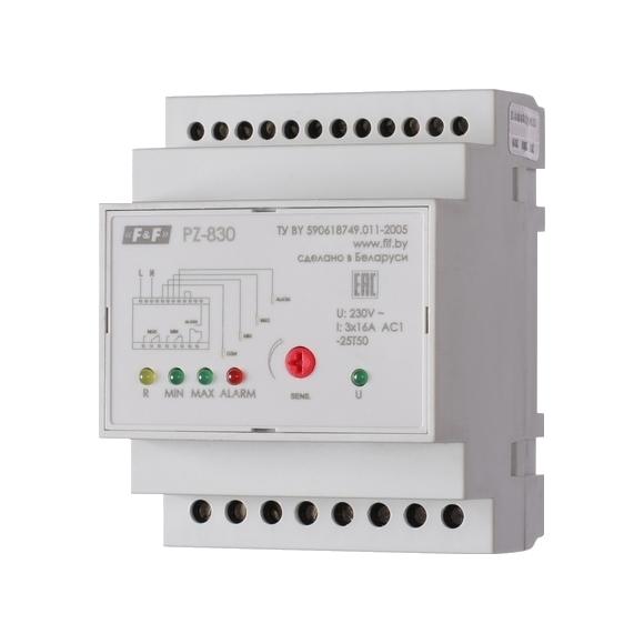 Реле контроля уровня жидкости PZ-830 на Din-рейку (без датчика)