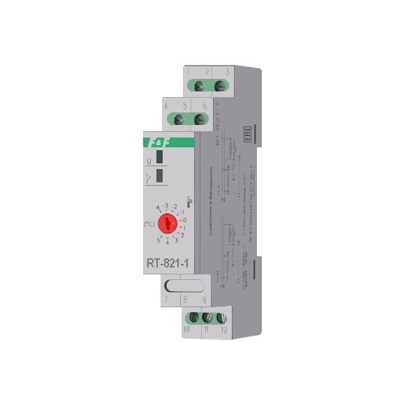 Регулятор температуры  RT-821-1 на Din-рейку с датчиком