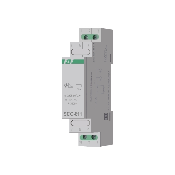 Регулятор освещенности (диммер) SCO-811 на Din-рейку