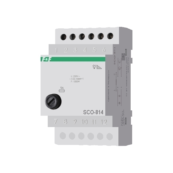 Регулятор освещенности (диммер) SCO-814 на Din-рейку