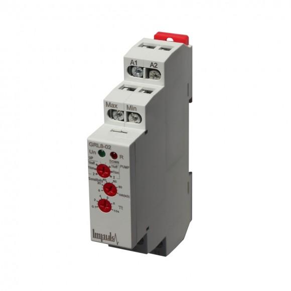 Реле контроля уровня жидкости GRL8-02 на Din-рейку