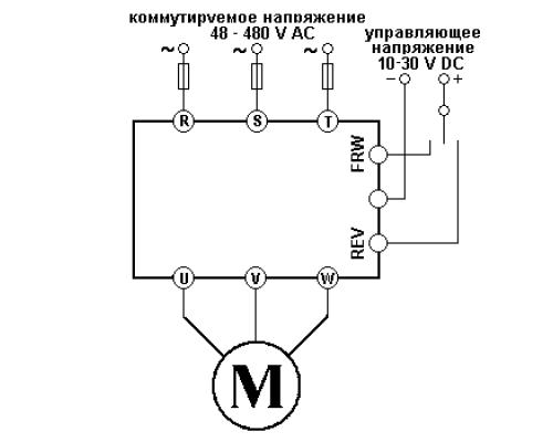 Твердотельное реле GTR2548ZA2. Схема подключения