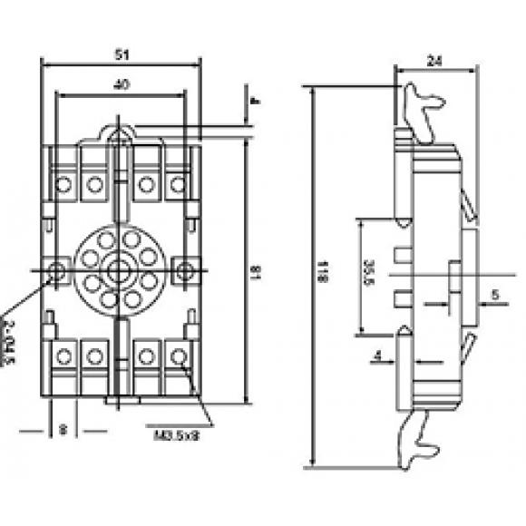 Клемная колодка P2CF08