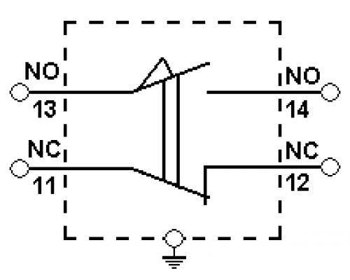 Концевые (конечные) выключатели TZ-8111. Схема подключения