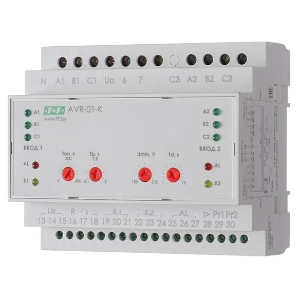 Устройство управления  резервным питанием AVR-01-K на Din-рейку