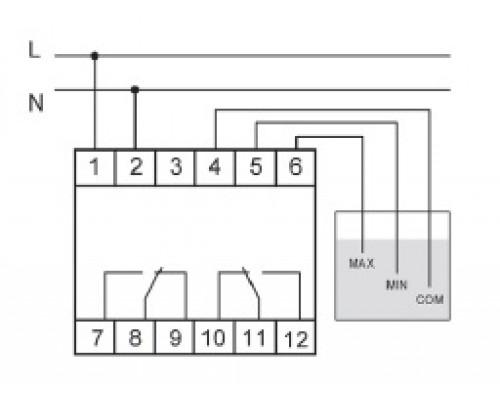PZ-829. Схема подключения