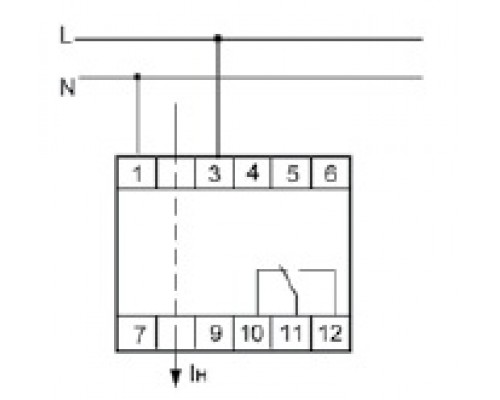 Реле контроля тока EPP-619 на Din-рейку. Схема подключения
