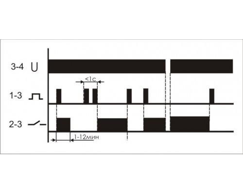 Реле импульсное (лестничный автомат) BIS-403. Схема подключения
