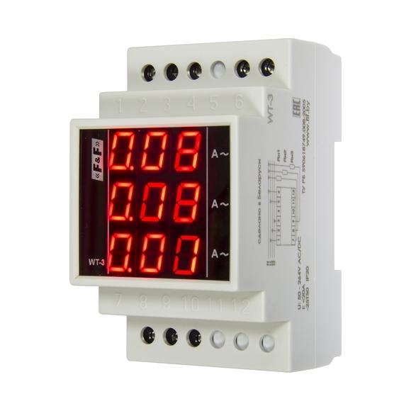 Индикатор тока 3-фазный WT-3-T на Din-рейку