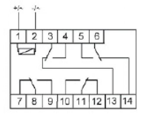 PK-4P. Схема подключения