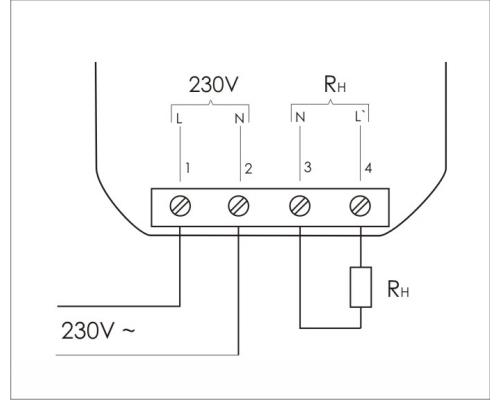 Реле контроля напряжения однофазнное CP-703 на Din-рейку. Схема подключения