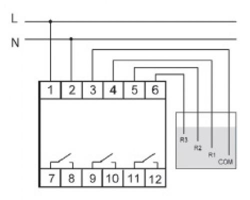 PZ-831. Схема подключения