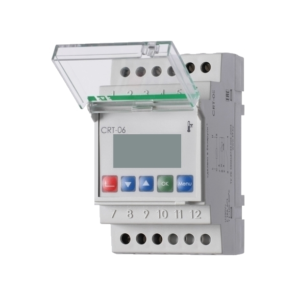 Регулятор температуры  CRT-06 на Din-рейку с датчиком