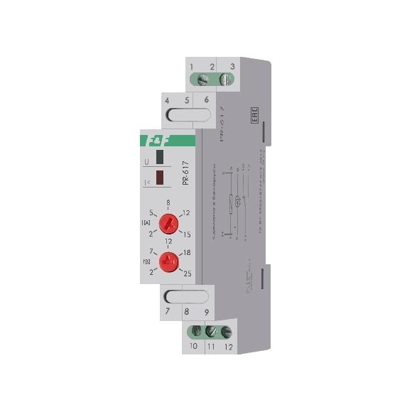 Реле защиты электродвигателей по току PR-617 на Din-рейку
