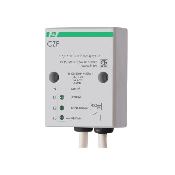 Реле контроля напряжения 3-фазное CZF на поверхность