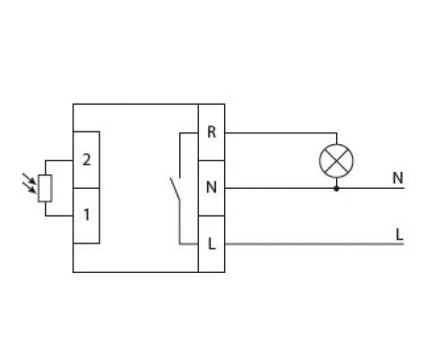 Автомат светочувствительный AWZ-30-10/38. Схема подключения
