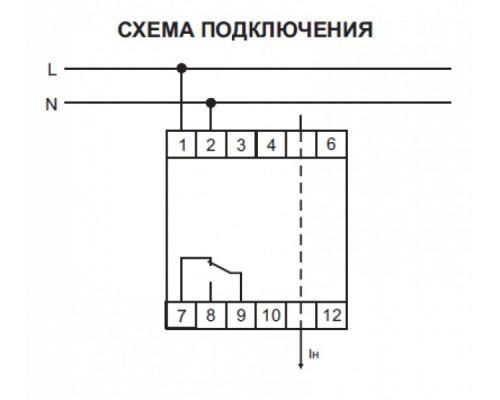 Реле контроля тока EPP-618 на Din-рейку. Схема подключения