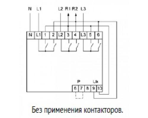 Переключатель фаз автоматический PF-452 на Din-рейку. Схема подключения