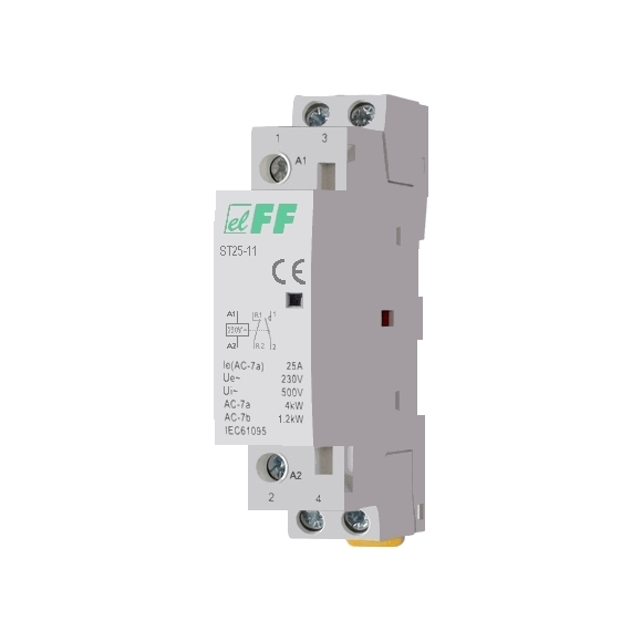 Модульный контактор ST25-11 на Din-рейку