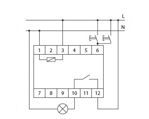 Автомат лестничный AS-223 на Din-рейку. Схема подключения