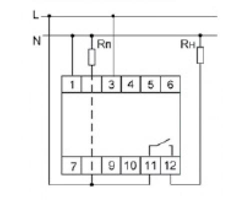 Реле тока приоритетное PR-615 на Din-рейку. Схема подключения