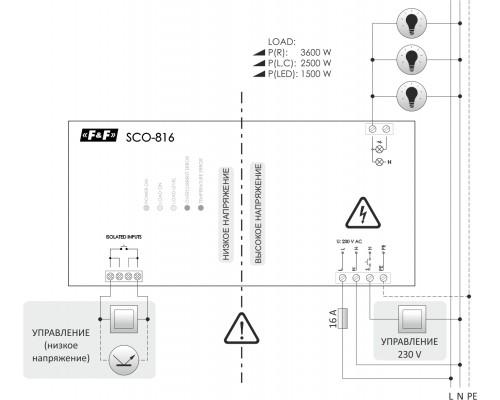 SCO-816. Схема подключения