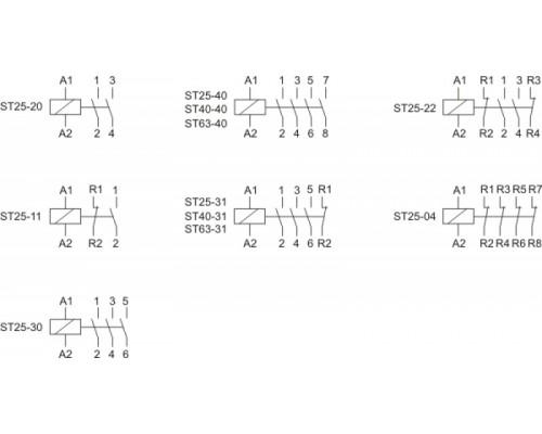ST63-40. Схема подключения