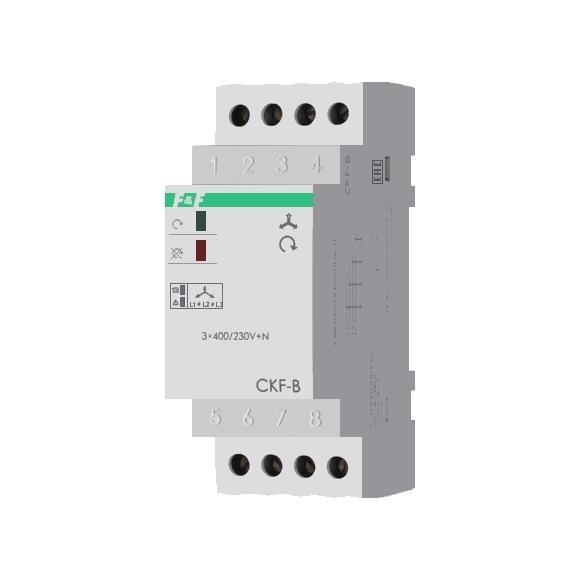 Реле контроля напряжения 3-фазное CKF-B на Din-рейку