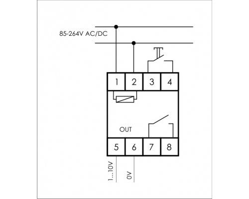 Цифровой программируемый недельный регулятор яркости освещения  PCZ-531A10 на Din-рейку. Схема подключения