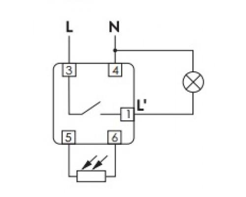 Автомат светочувствительный AZ-BU ПЛЮС на Din-рейку. Схема подключения