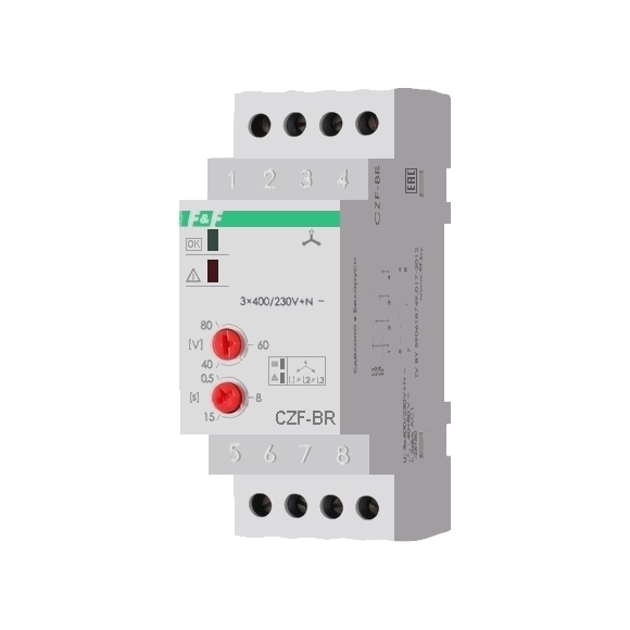 Реле контроля напряжения 3-фазное CZF-BR на Din-рейку
