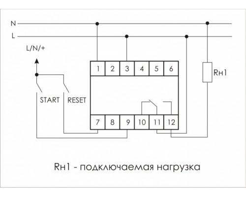 Многофункциональное реле времени PCS-516 на Din-рейку. Схема подключения