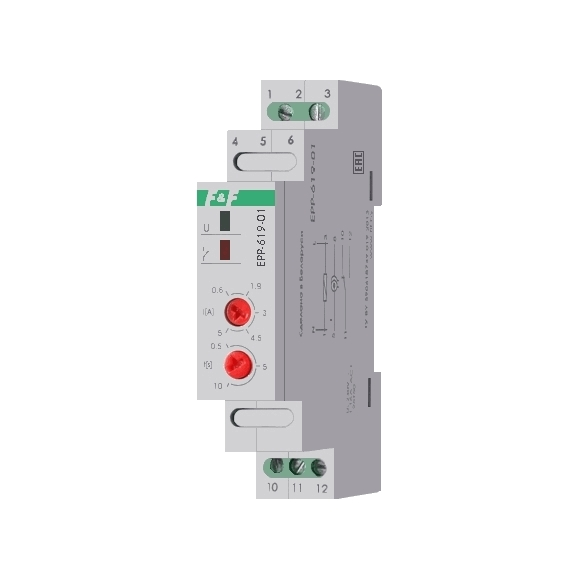 Реле контроля тока EPP-619 на Din-рейку
