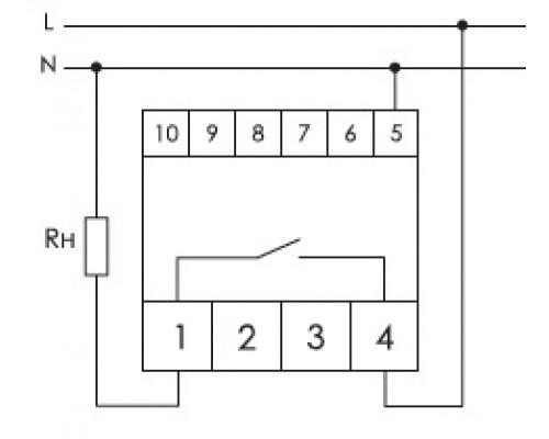 Однофазный ограничитель мощности OM-1-1 на Din-рейку. Схема подключения
